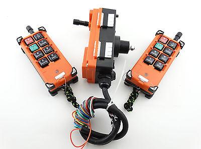 2 Sender TX &1 Receiver RX Hoist Crane Radio Industrial Wireless Remote Control