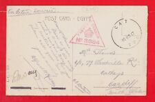 TPO Egypt & Palestine, C.A.T. Passed by censor, Military postmark 1917 WW1