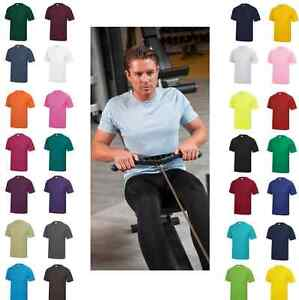 Hommes Uni Polyester Respirant Wicking Athlétique SPORTS T-Shirt
