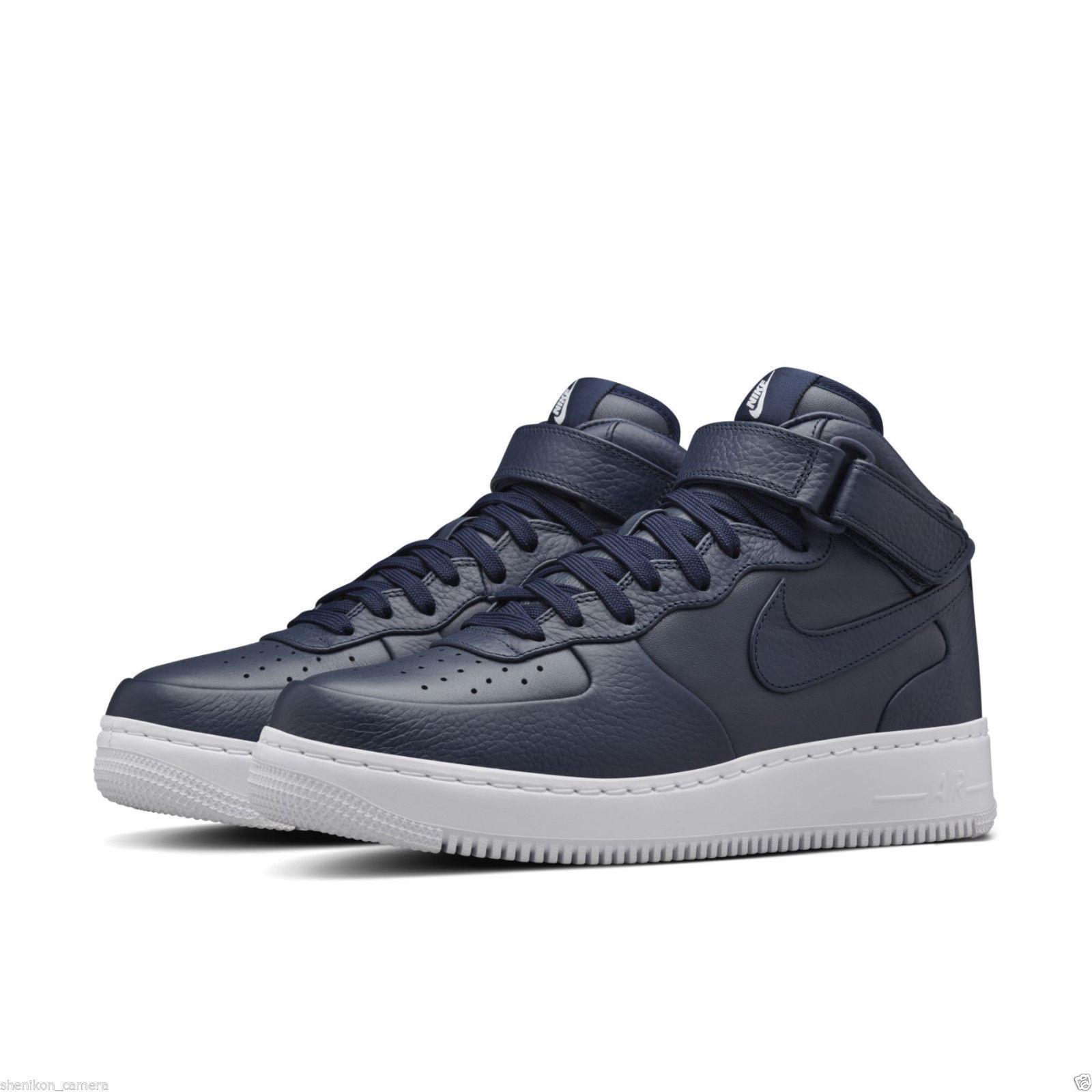 2016 NikeLab Air Force 1 Mid SP SZ 10 Obsidian bluee White Lux Nike 819677-400