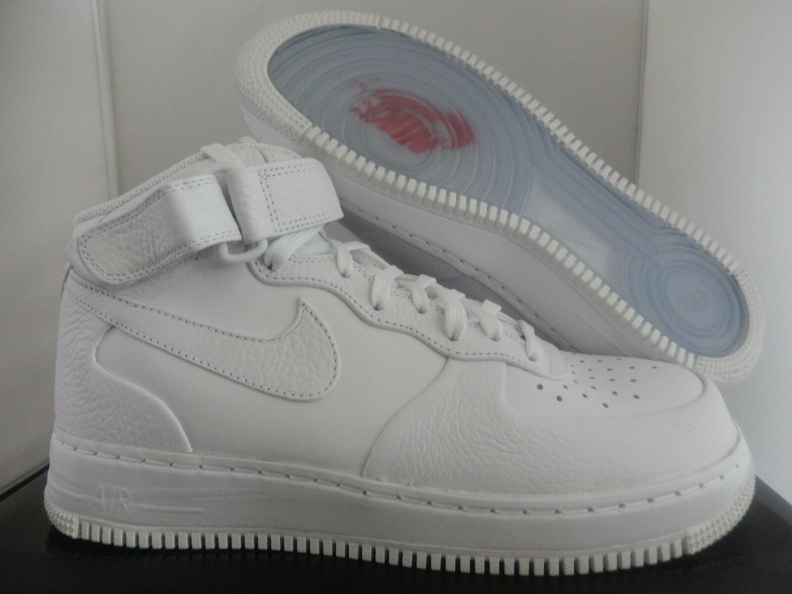 NIKE AIR FORCE 1 MID CMFT SP WHITE-WHITE-TEAM ORANGE SZ 13 [718153-118]