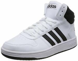 Adidas-Hoops-Mid-2-0-Bianco-Nero-Scarpa-Adidas-da-Uomo-Scarpa-alta-da-uomo