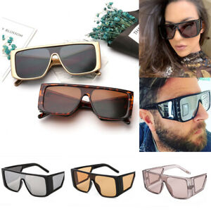 2019-Vintage-Retro-Unisex-Square-Sunglasses-Fashion-Shades-Oversized-Glasses-Hot