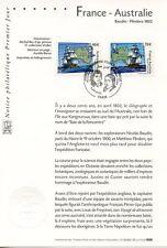 FDC / PREMIER JOUR / FRANCE AUSTRALIE / BAUDIN FLINDERS / PARIS 2002