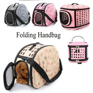 Pet-Sided-Carrier-Cat-Dog-Travel-Folding-Cage-Bag-Breathable-Potable-Crate-Tote