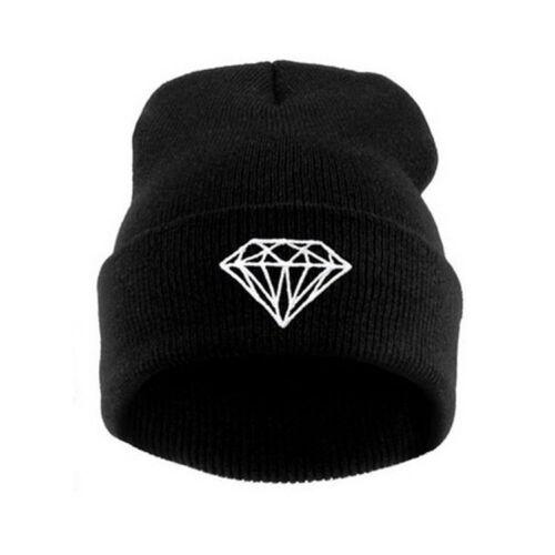 2019 Black Warm Winter Fashion Cap Hip-hop Knit Beanie Hats Women/'s Men/'s Hat