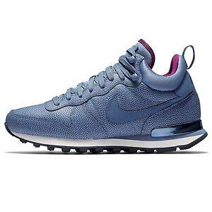 ... Nike-Internationalist-MID-en-Cuir-Baskets-Ocean-Brouillard-