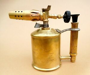 Details about Vintage Brass Blow Torch Lamp Type 223 Max Sievert Stockholm  Sweden