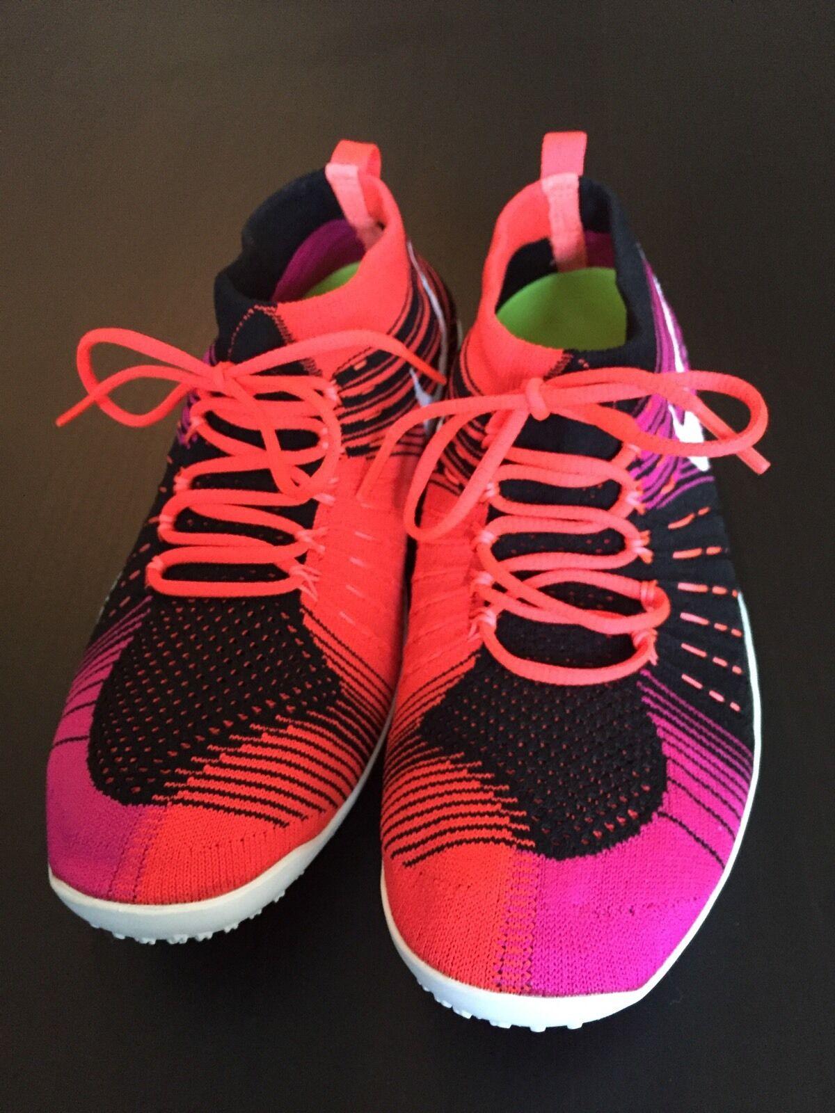 Nike hyperfeel flyknit croce gestiscono sz, nero, arancio, rosa msrp 175