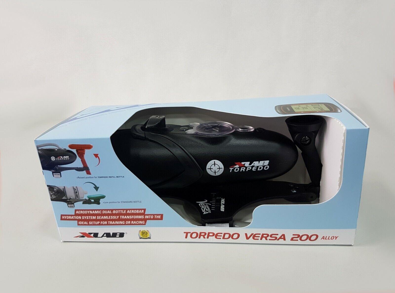 Conjunto De Botella XLab areobar Torpedo Versa 200 Negro (Mount + Jaula + Botella)