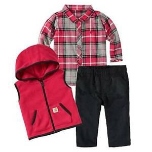 2befe462ddd07 Image is loading Carhartt-Baby-Infant-Girl-039-s-Fleece-Vest-
