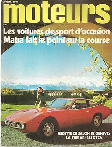 Impartial Moteurs 85 1971 Porsche 914/6 911 S 2.2 Geneve Gp Afrique Sud Rallye Suede Lyon