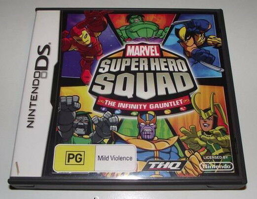 Marvel Super Hero Squad The Infinity Gauntlet Nintendo DS 3DS Game *Complete*