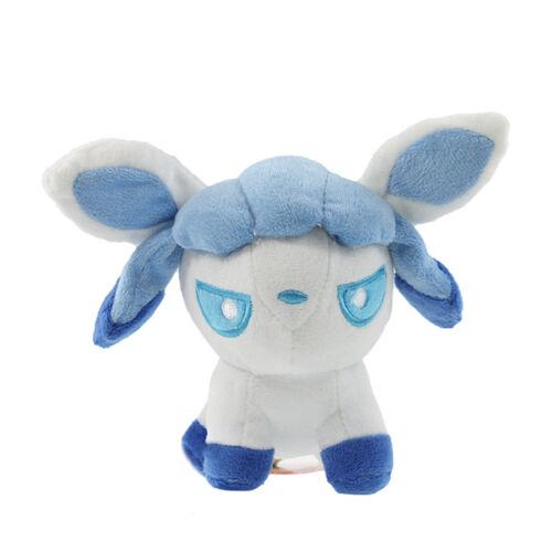 New Pokemon Evolution of Sit Eevee Cute Plush Toys Soft Stuffed Doll Gift 9 Pcs
