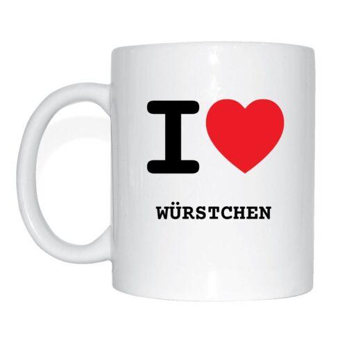 I love WÜRSTCHEN Tasse Kaffeetasse