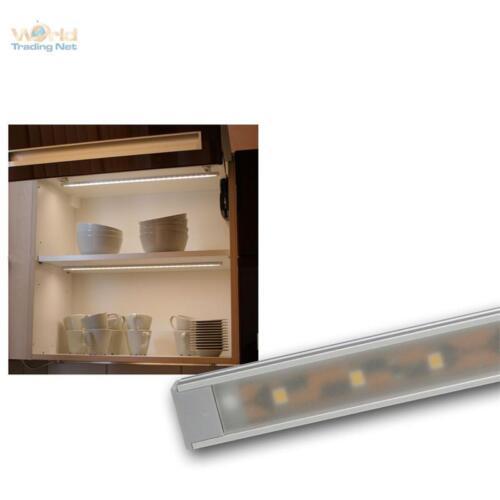 LED Alu-Lichtleiste Superflach 27 SMD LEDs warmweiß Unterbauleuchte Leiste 12V