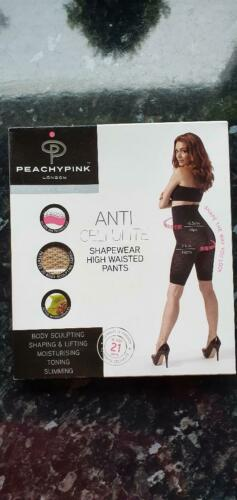Anti Cellulite Shapewear High Waisted Pants Peachy Pink Medium New /& Boxed Nude