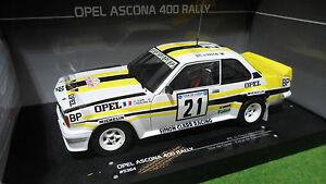 opel ascona 400 blanc rallye tour de corse 1 18 sunstar 5364 voiture miniature ebay. Black Bedroom Furniture Sets. Home Design Ideas