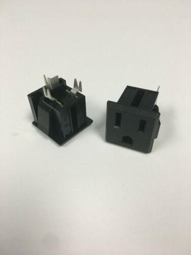 EDK AC-G10BB44 Snap-in AC Receptacle 15A//125V