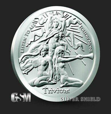 IN-STOCK!! 1 Troy Oz 2018 TRIVIUM Girl Silver Shield Round .999 Pure Ag