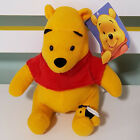 DISNEY WINNIE THE POOH WITH BEE ON FOOT PLUSH TOY SOFT TOY WITH TAG 15CM TALL
