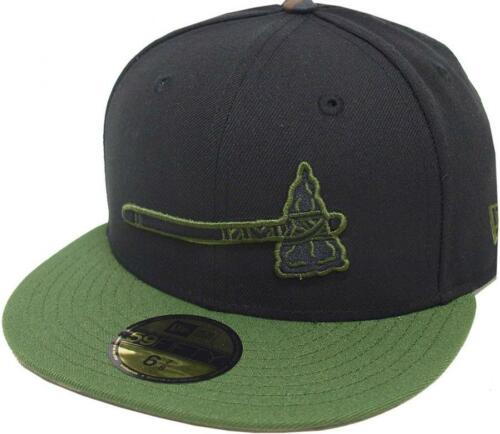 New Era Atlanta Braves Cooperstown Black Oliv Cap 59fifty Fitted Limited Edition