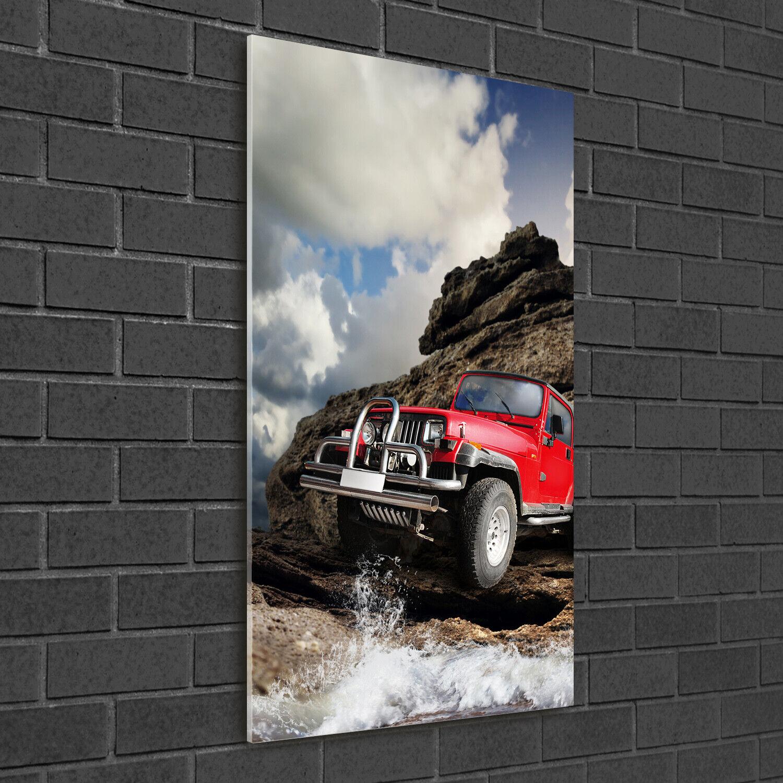 Immagine muro ARTE-STAMPA su duro-vetro perpendicolare 50x100 Fuoristrada