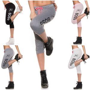 Ladies-Pants-Cropped-Capri-3-4-Sport-Leggings-Running-Fitness-Gym-Trousers