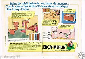 Détails Sur Publicité Advertising 1979 2 Pages Les Magasins Leroy Merlin