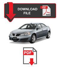 Pontiac G6 2005 2006 2007 2008 2009 2010 Factory Service Repair Workshop Manual