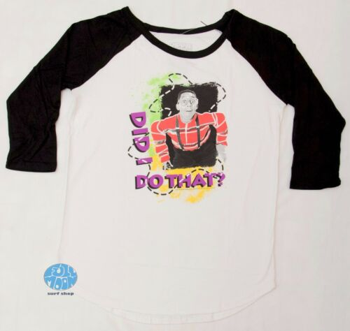 New Family Matters Juniors Steve Urkel Did I do that Vintage Raglan T-Shirt
