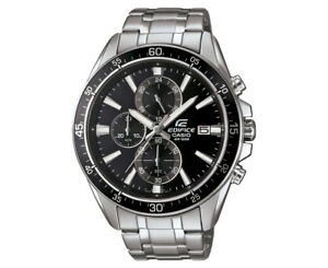 Casio-Edifice-Men-039-s-54mm-EFR546D-1A-Stainless-Steel-Chronograph-Watch-Black-Si