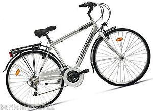 Dettagli Su Bici Acciaio City Bike Uomo 28 Montana Streetland Grigio 7 V Shimano