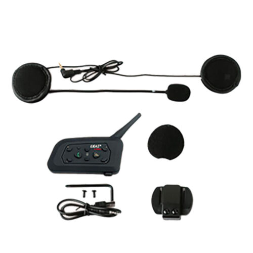 Motorbike Helmet Interphone Bluetooth3.0 Intercom FM Headset 6 Riders V6-Pro