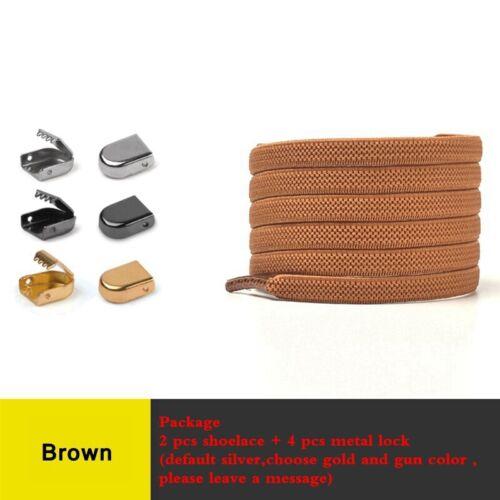 Detalles acerca de  /Elastic Shoelaces No Tie Shoe laces Outdoor Leisure Sneakers Quick Safety Flat
