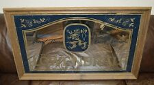 Vintage LOWENBRAU German Beer Lion Logo Glass Large Bar MIRROR Rare 32X21