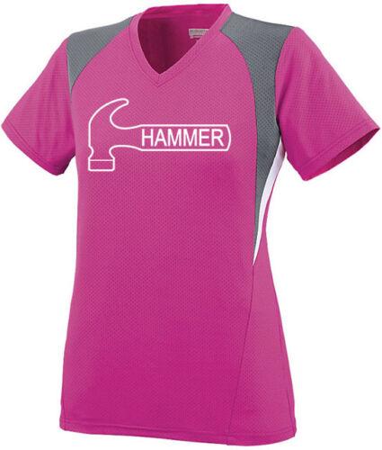 Hammer Women/'s Ambition Performance Crew Bowling Jersey Shirt Pink