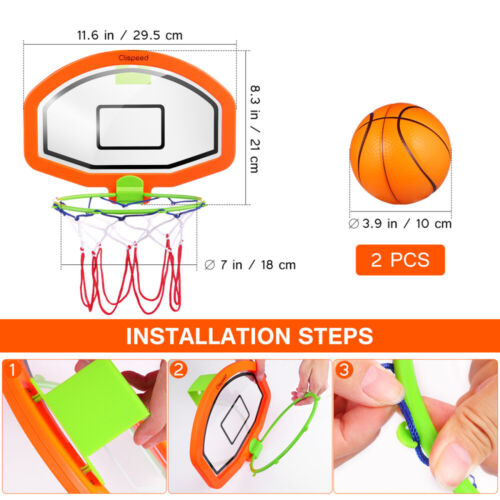 Clispeed Kids Basketball Hoop with Ball Net Set Indoor Hanging Wall Mounted  Toy
