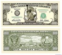 (50) Traditional Million Dollar Bills - Fun Novelty Prank Collectible Play Money