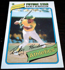RICKEY HENDERSON 1980 Topps 2014 Future Star Rookie Card RC SP Oakland A's