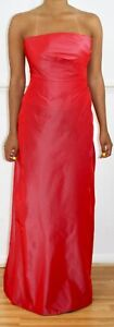 MONSOON-Red-Orange-Strapless-Halter-Neck-Maxi-Ball-Gown-Prom-Party-Dress-Uk-8