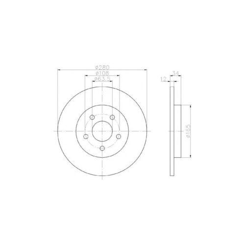 TDCi Estate Mintex Rear Brake Disc /& Pad Set TDDi Ford Mondeo MK3 2.0 16V Di
