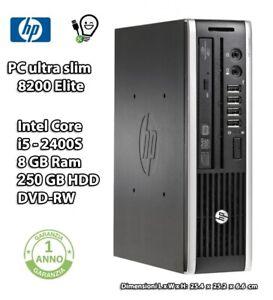 HP 8200 ELITE USDT MINI PC i5 8GB RAM 250GB HDD DVD-RW
