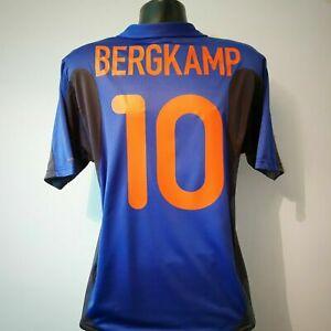 BERGKAMP 10 Holland Shirt - Medium - 2000/2002 - Away Nike Jersey Netherlands