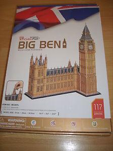 3D Puzzle Big Ben ( riesig: 62,5 cm hoch! ) London England Cubic Fun Gebäude