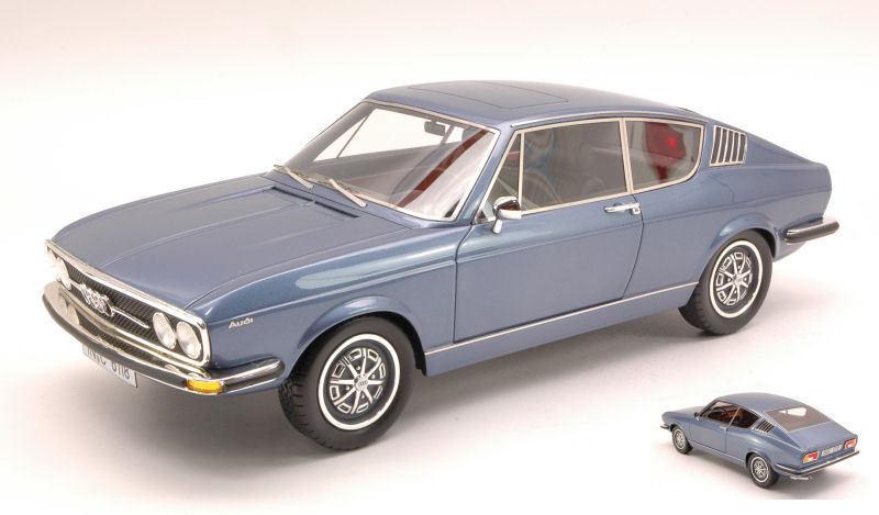 Audi 100 coupe s 1970 c1 bluee metal kk scale kkre 18001 1 18 resin resin blue
