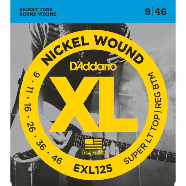 D'Addario EXL125 Nickel Light Gauge Electric Guitar Strings - Lt Top   Reg Btm