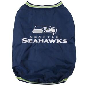 Seattle-Seahawks-NFL-Pets-First-Dog-Pet-Sideline-Jacket-Coat-Blue-S-L-NWT