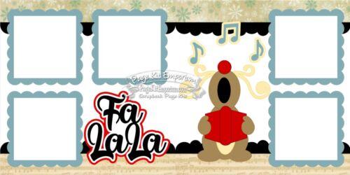 Scrapbook Layout Page Kit Christmas Carols Reindeer Paper Piece PKEmporium 20
