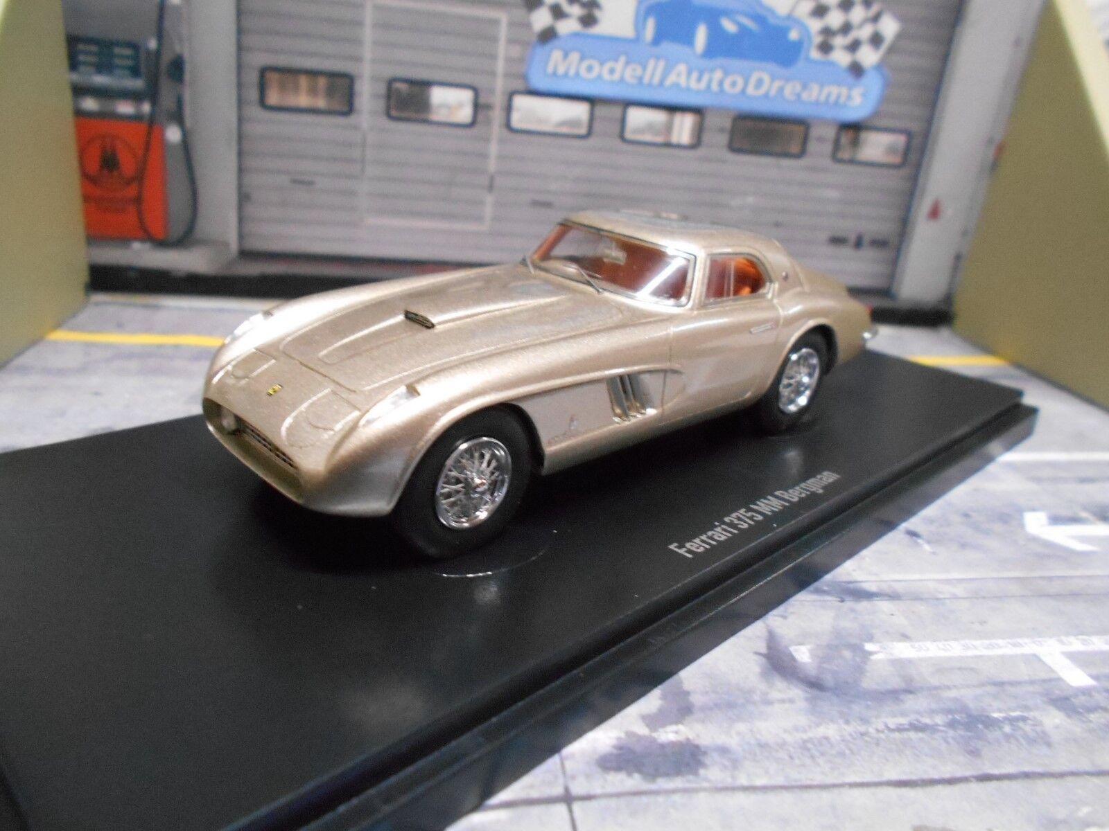 FERRARI 375MM 375 MM Ingrid Bergmann silver grey me 1973 1 333 NEU Autocult 1 43